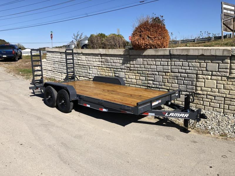 2021 Lamar 7x18' 14000# gvw equipment trailer h6831827
