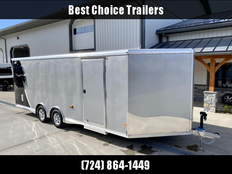 2020 NEO 8.5x22' Aluminum Enclosed Car Trailer 9990# GVW * NUDO FLOOR/RAMP * FULL ESCAPE DOOR * SPREAD AXLE * REAR SPOILER * ALUMINUM WHEELS * SCREWLESS * 1PC ROOF * RV DOOR * POWER PACKAGE * LED LIGHTS * CEILING LINER * ELECTRIC JACK * SLIDE OUT STEP