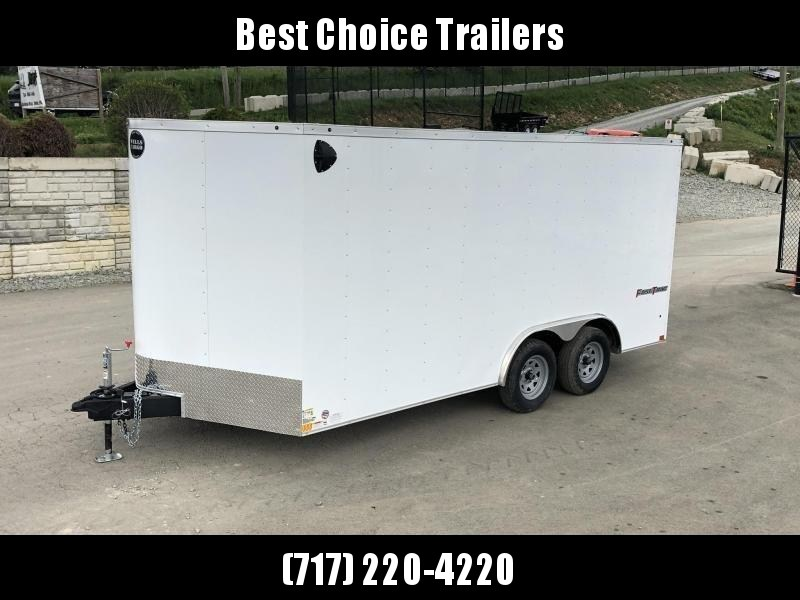 2021 Wells Cargo 8.5x16' Fastrac DELUXE Enclosed Car Trailer 7000# GVW *  WHITE EXTERIOR * RAMP DOOR