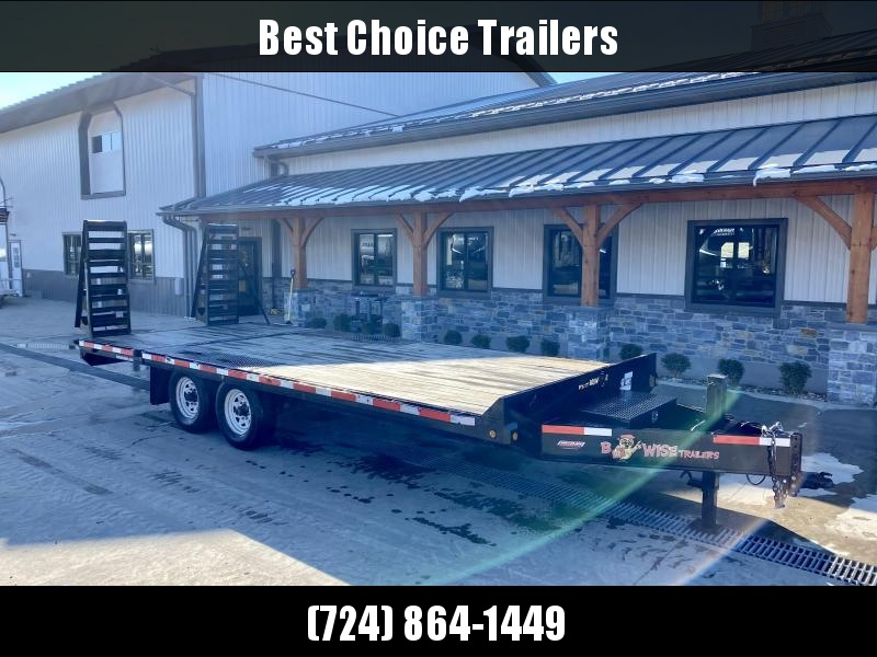 USED 2014 B-Wise 102x20' Deckover Trailer 15000# GVW * ADJUSTABLE COUPLER * 12K DROP LEG JACK * TOOLBOX * RUBRAIL/STAKE POCKETS * ADJUSTABLE DOVETAIL * STAND UP RAMPS