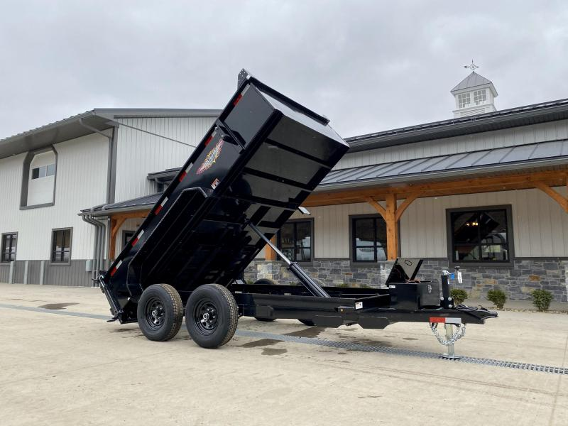 "2021 H&H Trailer 76""x12' Dump Trailer 9990# GVW * 2' SIDES * COMBO GATE * UNDERMOUNT RAMPS * NESTLED BED FRAME * CLEARANCE"