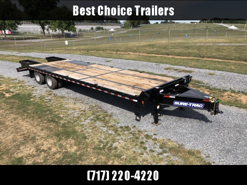 2020 Sure-Trac 102x30' HD Beavertail Deckover Trailer 25900# GVW * FULL WIDTH RAMPS * PAVER SPECIAL * OAK BEAVERTAIL/DECK/RAMPS * DEXTER 12K AXLES * HUTCH SUSPENSION * DUAL JACKS * MUD FLAPS * EXTRA D-RINGS * INTEGRATED TOOLBOX * PIERCED FRAME * CROSS TRA