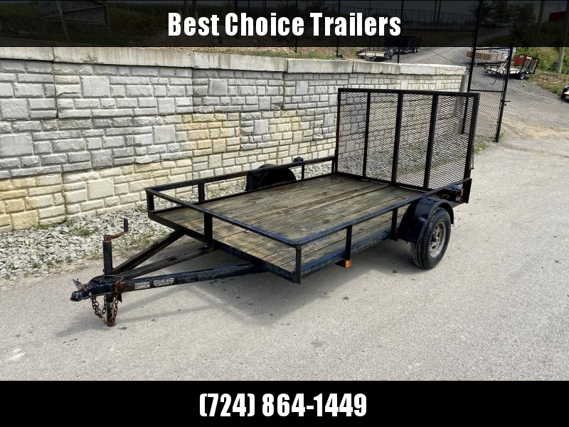 "USED Tow Pro 6x10' Angle Iron Utility Landscape Trailer 3000# GVW * REAR GATE * A-FRAME TONGUE * A-FRAME JACK * 2"" BALL"