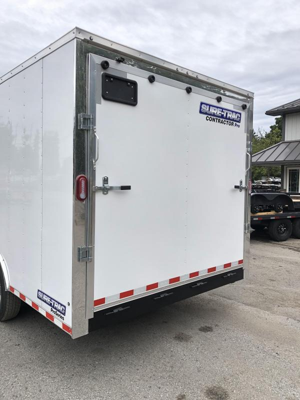 """2021 Sure-Trac 8.5x18' Enclosed Contractor Pro 14000# GVW * HD CONSTRUCTION TRAILER * 7K AXLE UPGRADE * TORSION * SUPER DUTY RAMP W/ KNIFEEDGE * 16"""" RUBBER * BACKUP LIGHTS * 7' HEIGHT"""
