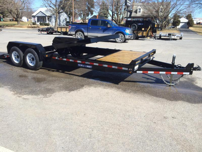 2020 Sure-Trac 7x22' Gravity Tilt Equipment Trailer 14000# GVW * SPLIT DECK 18+4' * OAK DECK UPGRADE IMPROVES TRACTION & DURABILITY * DROP AXLES/LOW LOAD ANGLE * RUBRAIL/STAKE POCKETS/D-RINGS * HD FENDERS * ADJUSTABLE CAST COUPLER * SPARE MOUNT