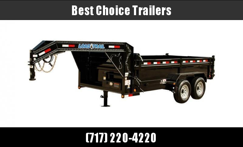 "2020 Load Trail 7x14' Gooseneck Dump Trailer 14000# GVW * 3-WAY GATE * 8"" I-BEAM FRAME * TARP KIT * SCISSOR HOIST * 6"" TUBE BED FRAME * 110V CHARGER * ADJUSTABLE COUPLER * 10GA 2PC SIDES/FLOOR * INTEGRATED KEYWAY * POWDER PRIMER * 12K JACK"