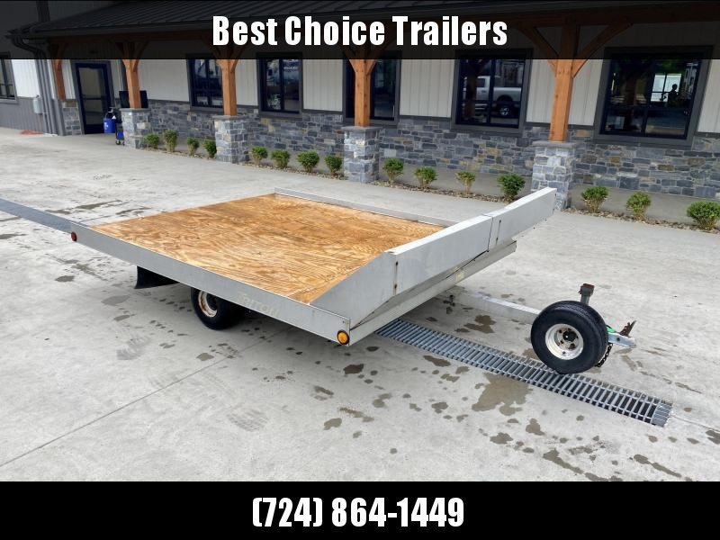 USED Triton 8x10' Aluminum Tilt Trailer 1880# GVW * TORSION * ALUMINUM TILT * SNOWMOBILE TRAILER * SPARE TIRE