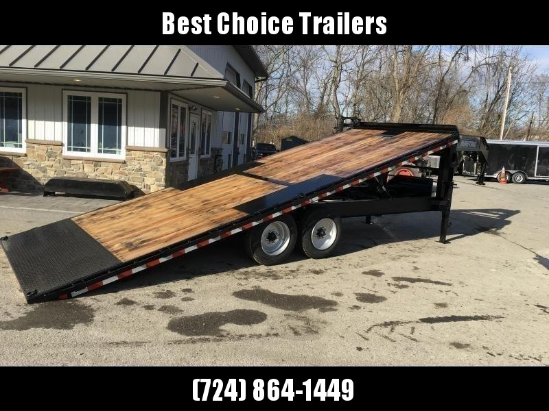 "2021 Sure-Trac 102x22' Gooseneck Power Tilt Deckover 15000# GVW * WINCH PLATE * OAK DECK UPGRADE * DUAL PISTON * DUAL JACKS * FRONT TOOLBOX * 10"" I-BEAM MAINFRAME * RUBRAIL/STAKE POCKETS/PIPE SPOOLS/8 D-RINGS * LOW LOAD ANGLE"