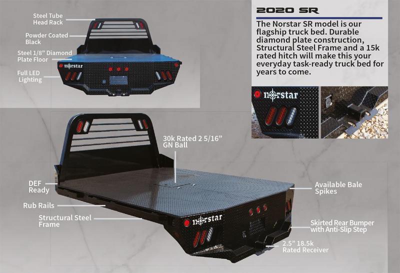 """2021 Norstar SR Flatbed Truck Bed 84""""x84""""x40""""CTA * SR084844000I37BK"""