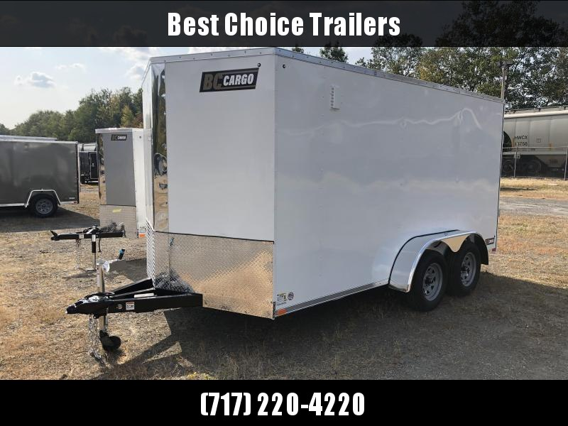 "2021 ITI Cargo 7x14' Enclosed Cargo Trailer 7000# GVW * WHITE EXTERIOR * .030 SEMI-SCREWLESS * 1 PC ROOF * 6'6"" INTERIOR * 3/8"" WALLS * 3/4"" FLOOR * PLYWOOD * 24"" STONEGUARD * HIGH GLOSS PAINTED FRAME * RV DOOR"