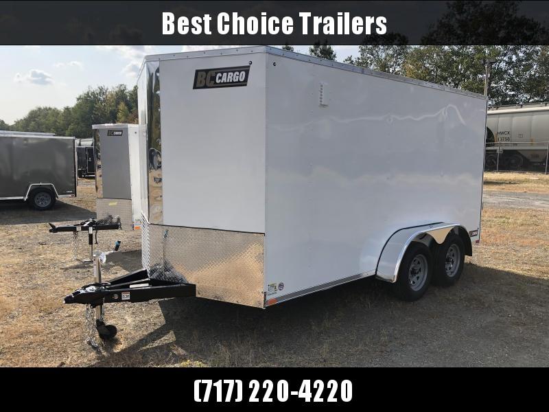 "2021 ITI Cargo 7x14' Enclosed Cargo Trailer 7000# GVW * WHITE EXTERIOR * .030 SEMI-SCREWLESS * 1 PC ROOF * 6'6"" INTERIOR * 3/8"" WALLS * 3/4"" FLOOR * PLYWOOD * 24"" STONEGUARD * HIGH GLOSS PAINTED FRAME * RV DOOR"