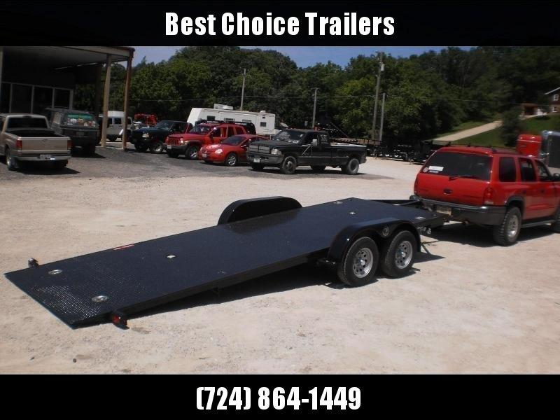 2020 Kwik Load 7x18' Texas Rollback Car Trailer 7000# GVW * LOW LOAD ANGLE * STEEL FLOOR * TORSION * IN DECK TOOLBOXES * IN DECK LIGHTS * SWIVEL D-RINGS * REMOVABLE FENDERS * FULL WIDTH LOADING