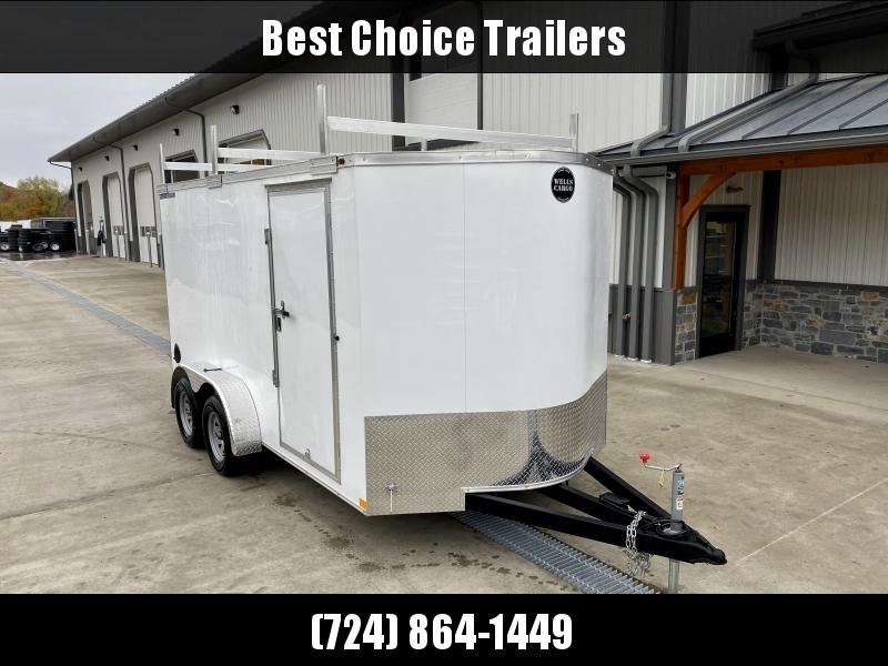 "2020 Wells Cargo 7x14' Road Force Enclosed Contractor Trailer 7000# GVW * WHITE ETERIOR * CONTRACTOR PACKAGE * 3 LADDER RACKS * 3/4"" WALLS * SCREWLESS .030 EXTERIOR * 1 PC ALUM ROOF * 6'6"" HEIGHT * TUBE STUDS * RV DOOR * ARMOR GUARD * EXTENDED TRIPLE TUBE"