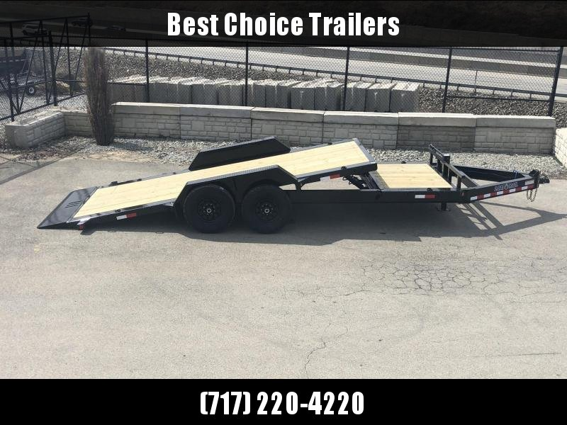 "2019 Load Trail 7x20' Gravity Tilt Equipment Trailer 14000# GVW * 16+4' SPLIT DECK * REMOVABLE FENDERS * 8"" I-BEAM MONOFRAME * DEXTER TORSION AXLES * GRAVITY TILT W/ STOP VALVE * TOOL TRAY * 2-3-2 WARRANTY * POWDER PRIMER * 12K JACK * CLEARANCE"