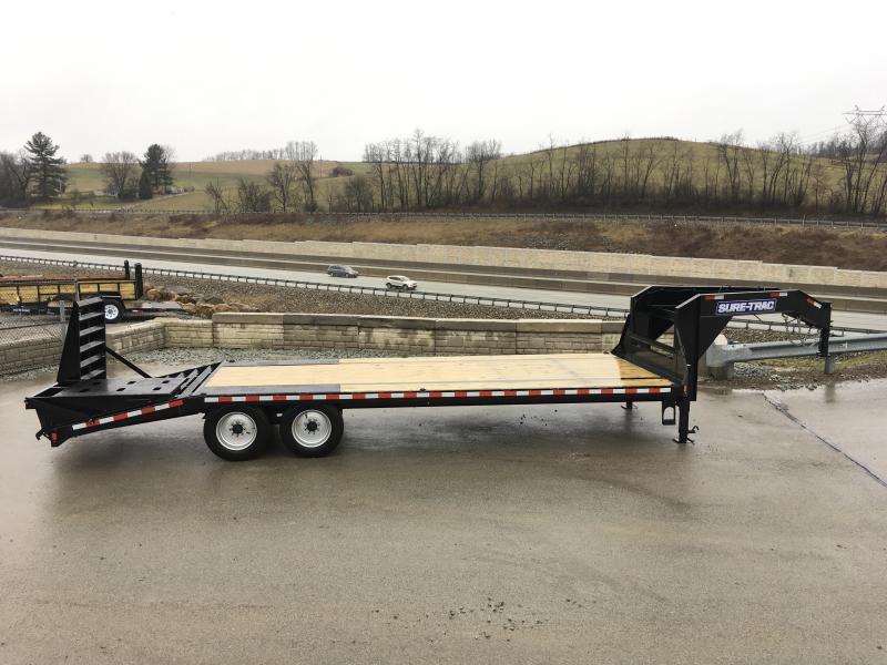 2021 Sure-Trac 102x25' 17600# gvw gn deckover trailer st102205lpdo2a-gn-176-ur