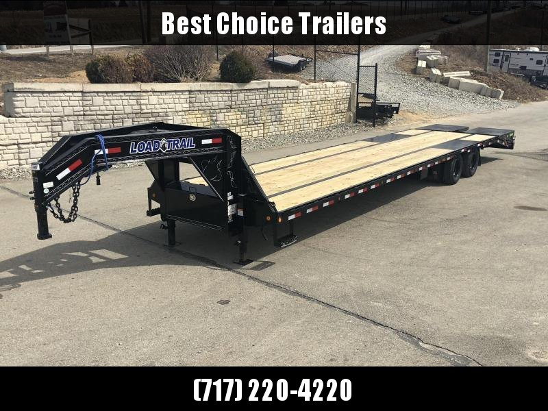2021 Load Trail 102x40' Gooseneck Flatbed Deckover Trailer 24000# GVW * HOTSHOT TRAILER * 12K DEXTER AXLES * 2-25K 2-SPEED JACKS * FULL WIDTH RAMPS * HDSS SUSPENSION * UNDER FRAME BRIDGE * TORQUE TUBE * PIERCED FRAME * WINCH PLATE