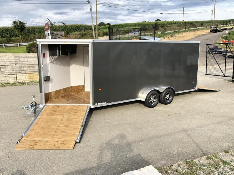 2020 Neo 7x22' Aluminum Enclosed All-Sport Trailer * 7' HEIGHT - UTV PKG * CHARCOAL * FRONT RAMP * LOADED * UTV * ATV * Motorcycle * Snowmobile