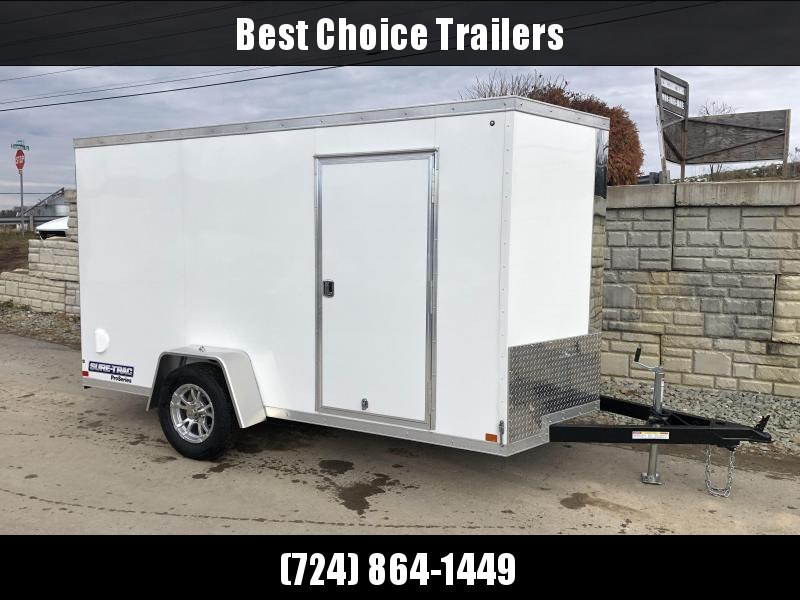 2021 Sure-Trac 6x10 STW Enclosed Cargo Trailer Ramp Door * WHITE * STW7210SA