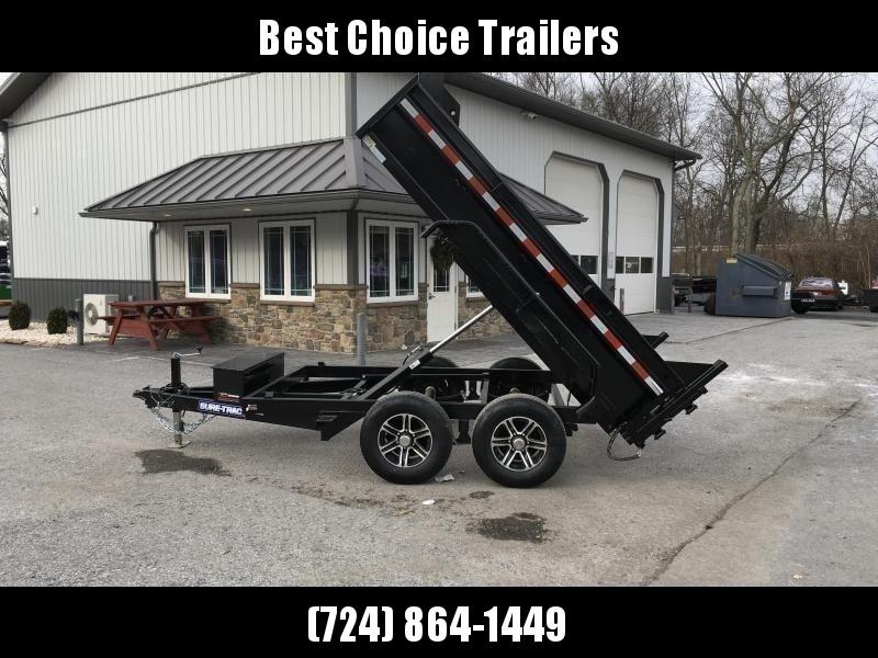"2021 Sure-Trac 6x10' Dump Trailer 9900# GVW * UNDERMOUNT RAMPS * COMBO GATE * 7K DROP LEG JACK * FRONT/REAR BULKHEAD * INTEGRATED KEYWAY * SPARE MOUNT * HD FENDERS * 4"" TUBE BEDFRAME * TRIPLE TUBE TONGUE * POWDERCOATED * SEALED HARNESS"