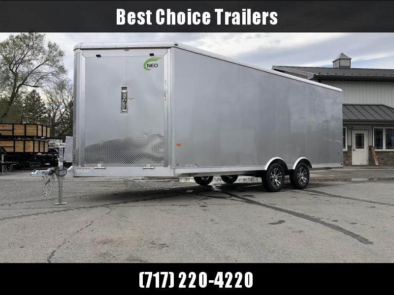 2020 NEO 8.5x20' NMS Aluminum Enclosed All Sport Car Hauler Trailer 7000# GVW * FINISHED WALLS * ALUMINUM WHEELS * ROUND TOP
