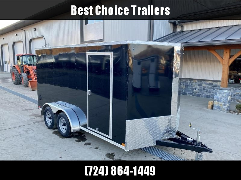 "2021 ITI Cargo 7x14' Enclosed Cargo Trailer 7000# GVW * BLACK EXTERIOR * 7' HEIGHT UPGRADE UTV PKG* .030 SEMI-SCREWLESS * 1 PC ROOF * 6'6"" INTERIOR * 3/8"" WALLS * 3/4"" FLOOR * PLYWOOD * 24"" STONEGUARD * HIGH GLOSS PAINTED FRAME * RV DOOR"
