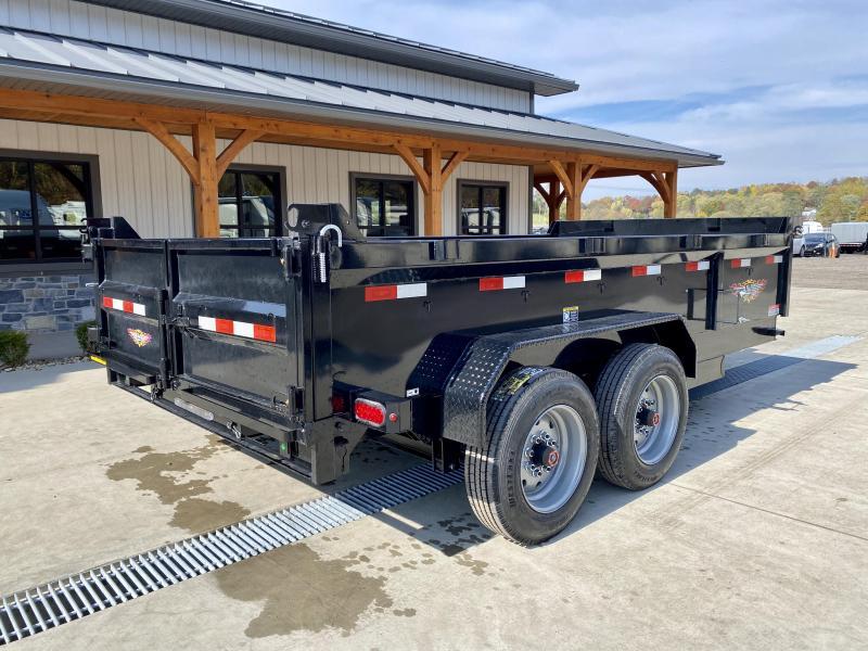 2021 H&H 7x14' 16000# gvw dump trailer h8314dbw-b-160