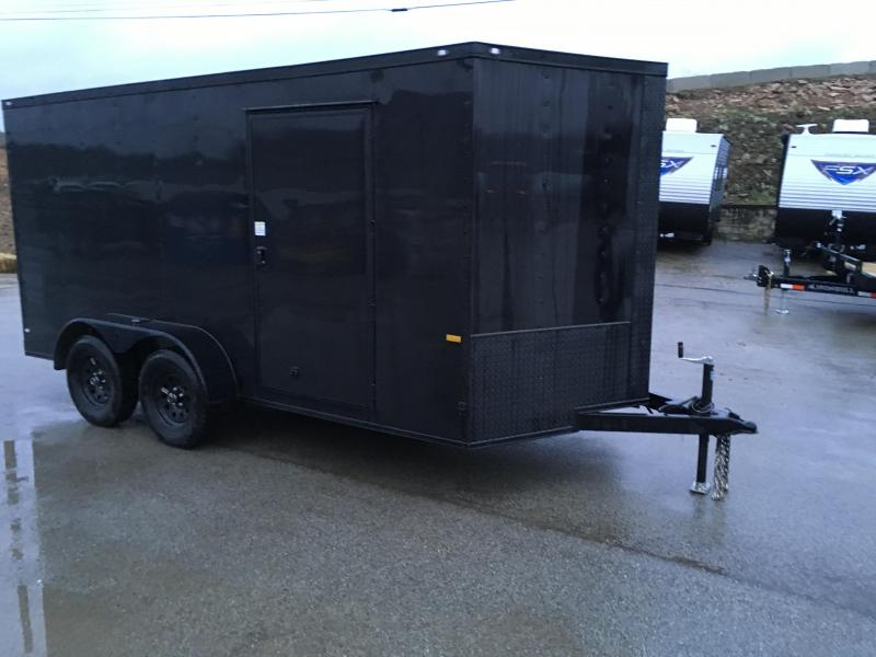 2021 Rock Solid Cargo 7x14' Enclosed Cargo Trailer 7000# GVW *  BLACKOUT EXTERIOR * RAMP DOOR * RV DOOR * 16IN O.C. C/M * TUBE STUDS * PLYWOOD WALLS AND FLOOR