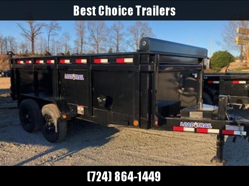 "2021 Load Trail 7x14' High Side Dump Trailer 14000# GVW * 3' HIGH SIDES * 12K JACK * 3-WAY GATE * 8"" I-BEAM FRAME * TARP KIT * SCISSOR HOIST * 6"" TUBE BED FRAME * 110V CHARGER * ADJUSTABLE COUPLER * 10GA 2PC SIDES/FLOOR * INTEGRATED KEYWAY"