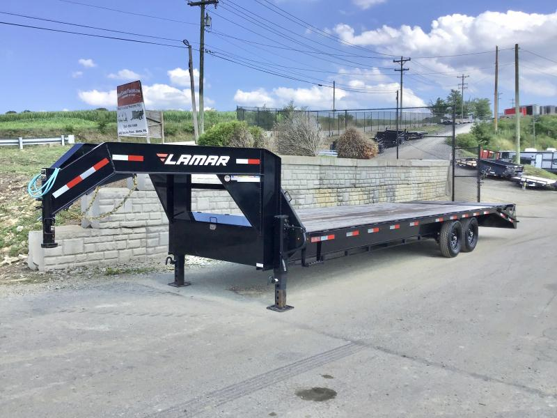 "2020 Lamar Trailers 102x28' HD Gooseneck Deckover Trailer 14000# GVW * 12"" I-BEAM * FULL WIDTH RAMPS * FRONT TOOLBOX * DUAL 25K 2-SPEED JACKS"