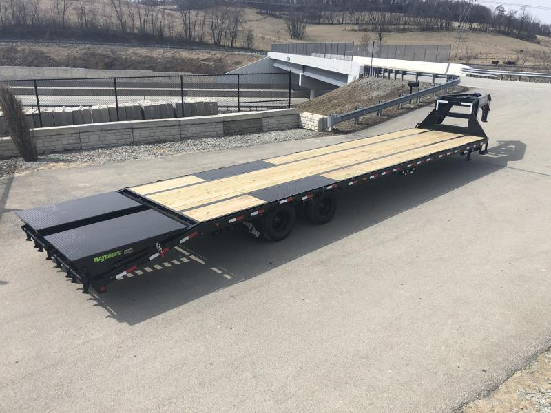 "2019 Load Trail 102x32' Gooseneck Beavertail Deckover Trailer 22000# GVW * FULL WIDTH RAMPS (STAND UP OR FLIPOVER) * DEXTER AXLES * HDSS SUSPENSION * SPARE TIRE * 12""/19#  I-BEAM FRAME *PIERCED FRAME * PRIMER * 2-3-2 WARRANTY * CLEARANCE"
