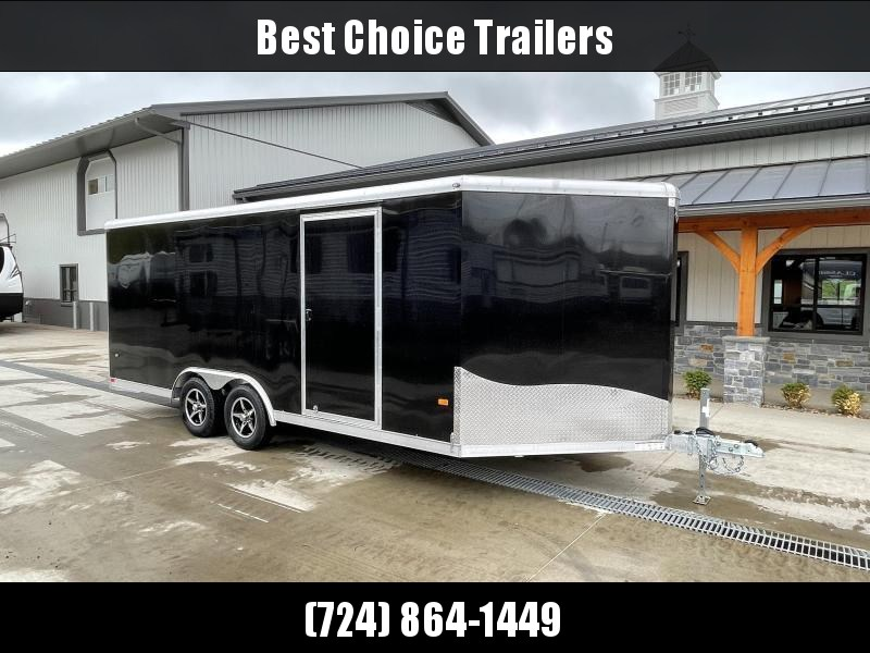 2021 NEO 8.5x20' Aluminum Enclosed Car Hauler Trailer 7000# GVW * ROUND TOP * NXP RAMP * ALUMINUM WHEELS * BLACK * ESCAPE HATCH