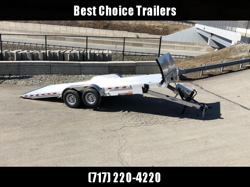 "2021 H&H 7x22' Deluxe Aluminum Power Tilt Car Hauler Trailer 14000# GVW * TORSION AXLES * ROCK GUARD * EXTRUDED FLOOR * SWIVEL D-RINGS * EXTRA STAKE POCKETS * DUAL TOOLBOXES * WINCH PLATE * WIRELESS * HD 8"" FRAME W/ UNDERFRAME BRIDGE * 4"" CHANNEL C/M"