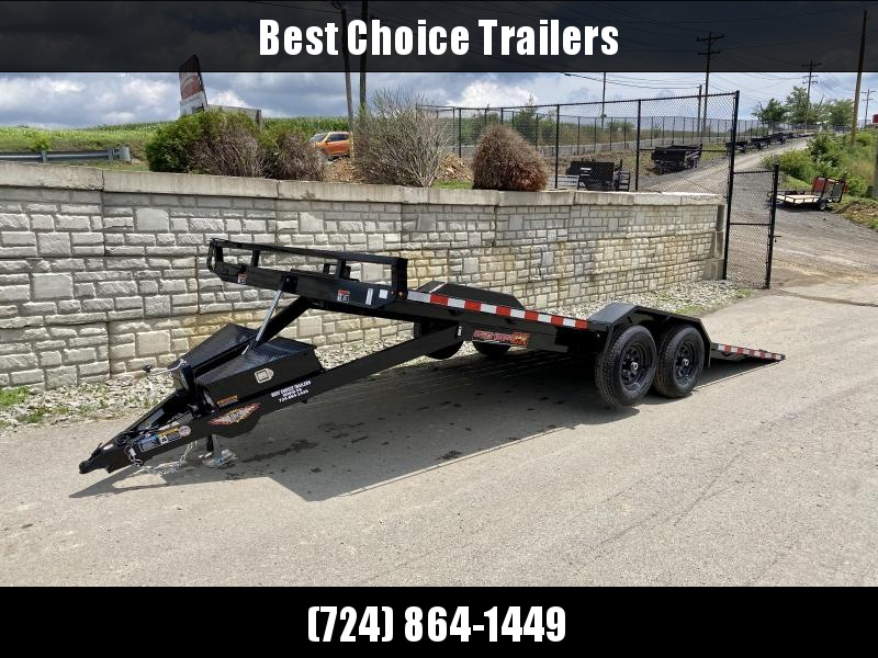 "2021 H&H 102x20' Buggy Hauler Power Tilt Car Trailer 9900# GVW  * 102"" DECK * DRIVE OVER FENDERS * WINCH PLATE * DUAL TOOLBOXES * RUBRAIL/STAKE POCKETS/D-RINGS * SPARE TIRE MOUNT"