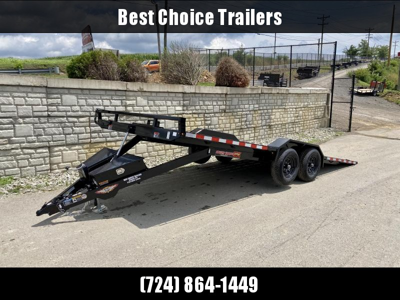 """2021 H&H 102x20' Buggy Hauler Power Tilt Car Trailer 9900# GVW  * 102"""" DECK * DRIVE OVER FENDERS * WINCH PLATE * DUAL TOOLBOXES * RUBRAIL/STAKE POCKETS/D-RINGS * SPARE TIRE MOUNT"""