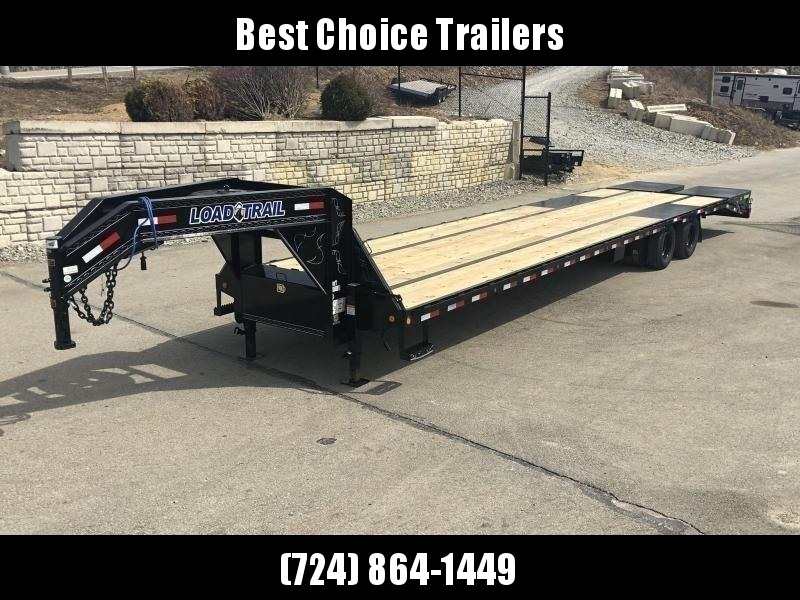 "2019 Load Trail 102x25' Gooseneck Beavertail Deckover Trailer 22000# GVW * FULL WIDTH RAMPS (STAND UP OR FLIPOVER) * HDSS SUSPENSION * WINCH PLATE * 12""/19#  I-BEAM FRAME * FRONT TOOLBOX * DUAL JACKS * PRIMER * DEXTER AXLES * 16"" O.C. C/M * CLEARANCE"