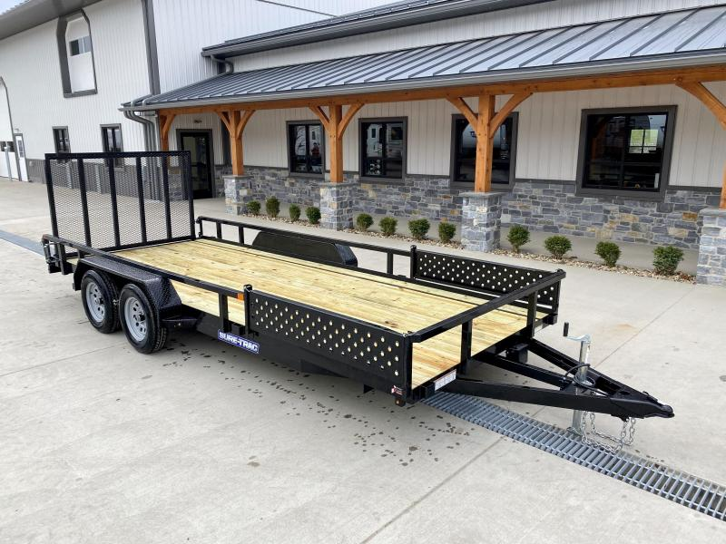 2021 Sure-Trac 7x18' Tube Top ATV Side Ramps Utility Landscape Trailer 7000# GVW