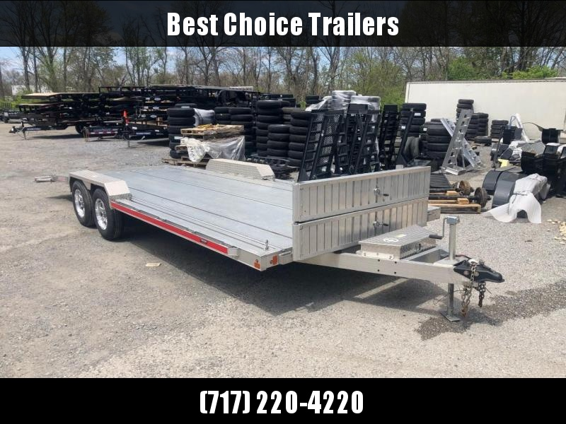 USED 2017 Triton 8x20' Aluminum Car Hauler Trailer 7000# GVW * EXTRUDED FLOOR * FULL WIDTH DECK * DRIVE OVER FENDERS * TORSION * TOOLBOX * WINCH * ALUMINUM WHEELS