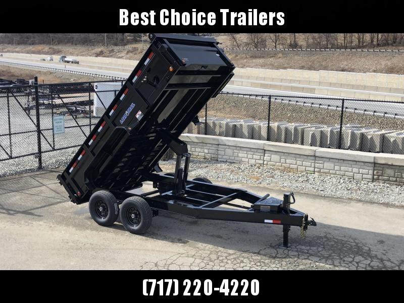 "2019 Load Trail 7x14' Dump Trailer 14000# GVW * 12K JACK * 3-WAY GATE * 8"" I-BEAM FRAME * TARP KIT * SCISSOR HOIST * 6"" TUBE BED FRAME * 110V CHARGER * ADJUSTABLE COUPLER * 10GA 2PC SIDES/FLOOR * INTEGRATED KEYWAY * POWDER PRIMER * DEXTER'S"