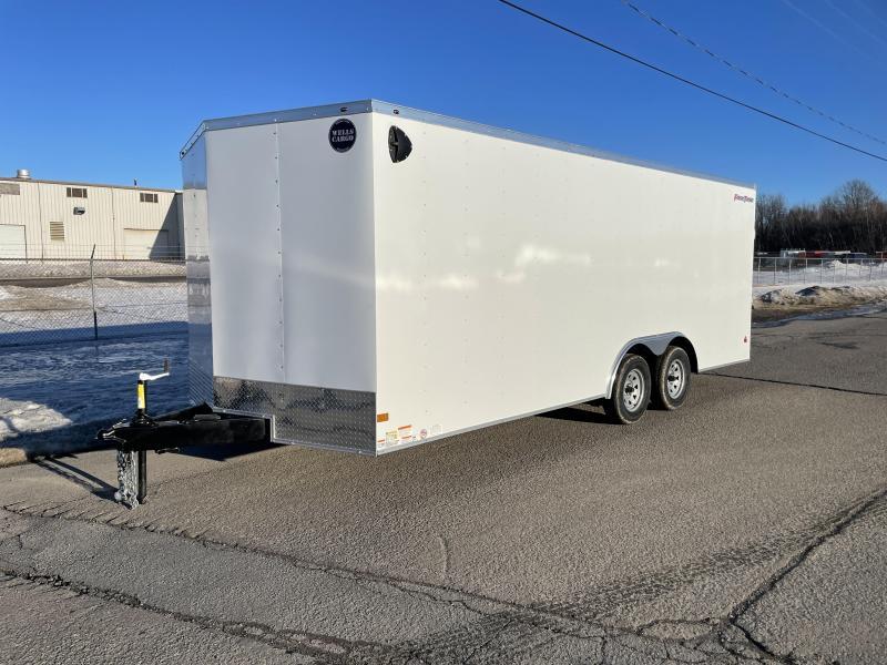 2021 Wells Cargo 8.5x20' Fastrac Enclosed Car Trailer 7000# GVW * WHITE EXTERIOR * RAMP DOOR * 1 PIECE ALUMINUM ROOF * LED'S * RADIALS * D-RINGS * TUBE BOWS