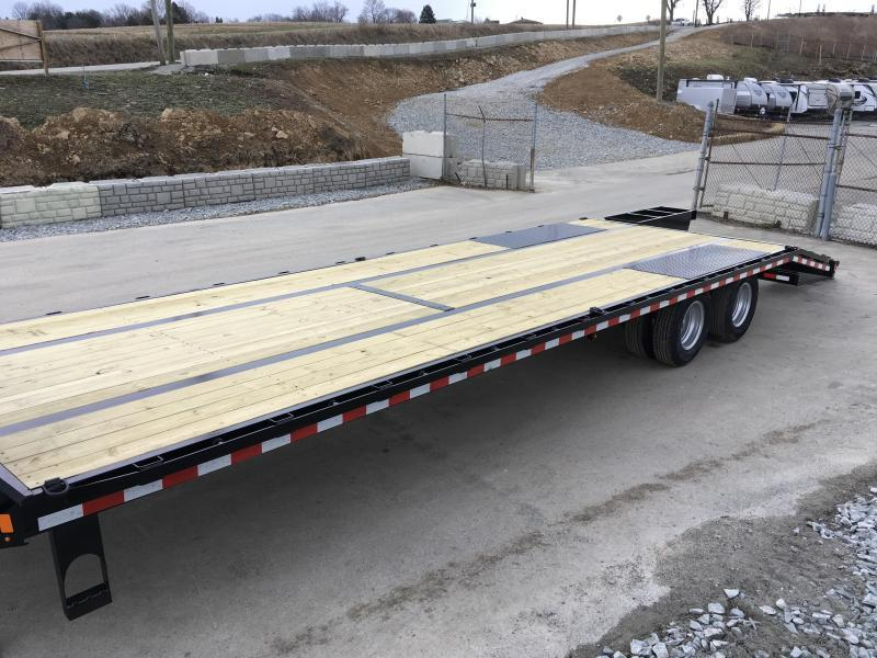 "2020 Sure-Trac 102x30' Gooseneck Beavertail Deckover Trailer 22500# GVW * DEXTER AXLES * FLIPOVER RAMPS + SPRING ASSIST * 12"" I-BEAM * PIERCED FRAME * RUBRAIL/STAKE POCKETS/PIPE SPOOLS/10 D-RINGS * CROSS TRAC BRACING * HD BEAVERTAIL * CLEARANCE"