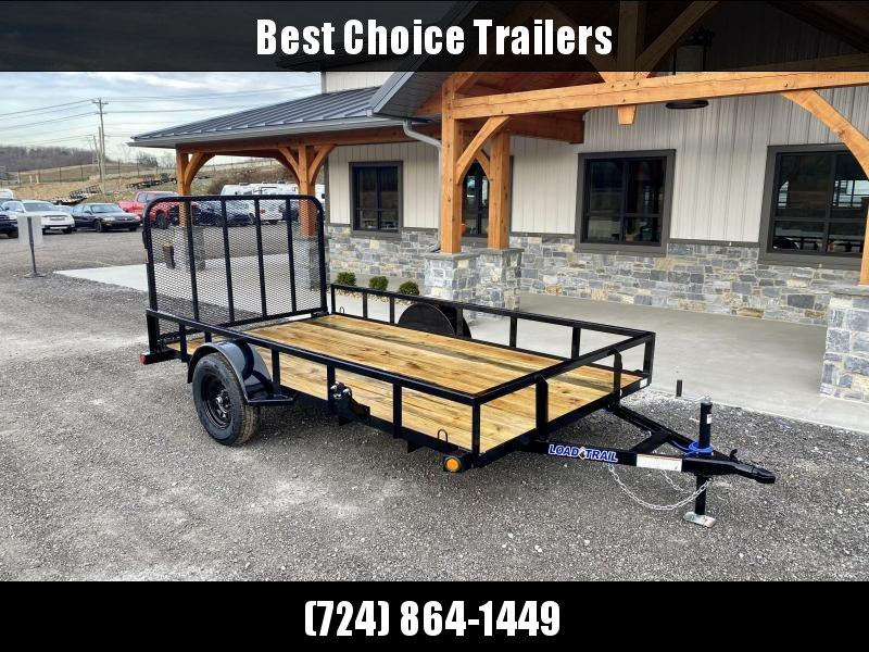 2021 Load Trail 7x12' Utility Landscape Trailer 2990# GVW * TUBE TOP RAIL * TUBE BUMPER * TUBE GATE C/M * PRIMER + POWDERCOAT * 2-3-2 WARRANTY * DEXTER AXLES * SEALED HARNESS * TIE DOWNS * SEALED HARNESS * CAST COUPLER