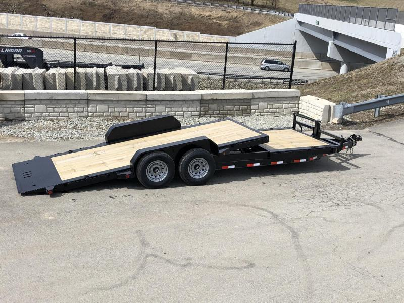2021 Ironbull 7x16+6 Gravity Tilt Equipment Trailer 16000# * 12K HYDRAULIC JACK * STOP VALVE * SUPER LOW LOAD ANGLE * DEXTER 8000# TORSION AXLES * SPARE MOUNT * REMOVABLE FENDERS * WINCH PLATE