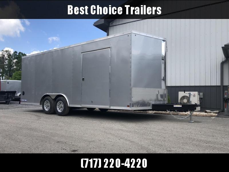 2021 Sure-Trac 8.5x24' Enclosed Car Trailer 9900# GVW * SILVER * 7K DROP LEG JACK * SCREWLESS EXTERIOR