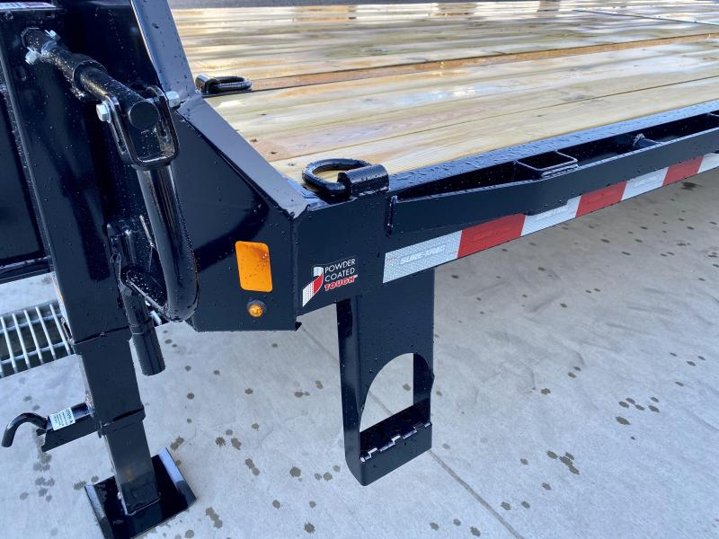"2021 Sure-Trac 102x30' Gooseneck Beavertail Deckover Trailer 22500# GVW * DEXTER AXLES * FLIPOVER RAMPS + SPRING ASSIST * 12"" I-BEAM * PIERCED FRAME * RUBRAIL/STAKE POCKETS/PIPE SPOOLS/10 D-RINGS * CROSS TRAC BRACING * HD BEAVERTAIL"