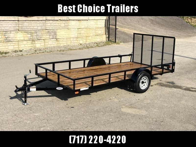 "2021 AMO 78x14' Utility Landscape Trailer 2990# GVW * 4' GATE * TOOLESS GATE REMOVAL * 3500# AXLE * 15"" RADIAL TIRES * CLEARANCE"