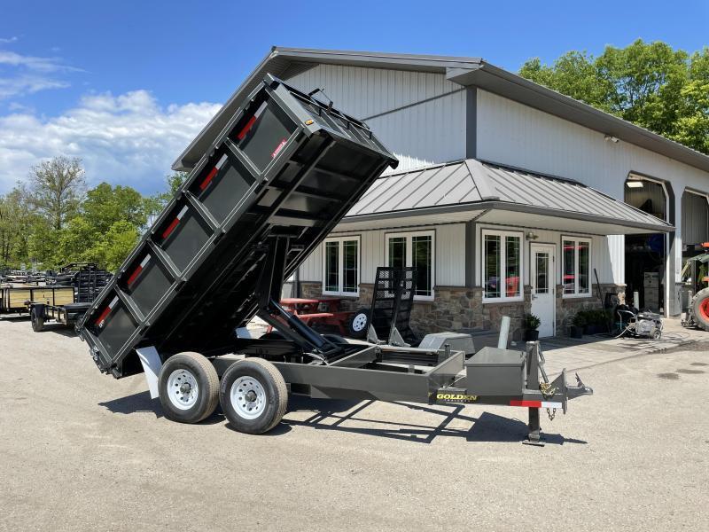 "2021 Corn Pro 7x12' Deckover Dump Trailer 14000# GVW * UNDERMOUNT RAMPS * GREY * RUNNING BOARDS * URETHANE PAINT * OVERSIZE 6"" SCISSOR * 7GA FLOOR * 8"" FRAME"