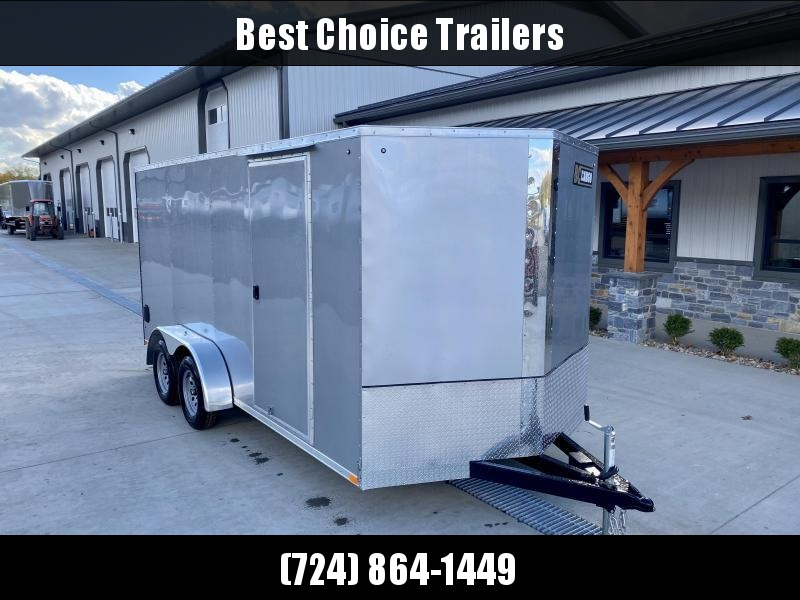"2021 ITI Cargo 7x16' Enclosed Cargo Trailer 7000# GVW * CHARCOAL EXTERIOR * .030 SEMI-SCREWLESS * 1 PC ROOF * 6'6"" INTERIOR * 3/8"" WALLS * 3/4"" FLOOR * PLYWOOD * 24"" STONEGUARD * HIGH GLOSS PAINTED FRAME * RV DOOR"