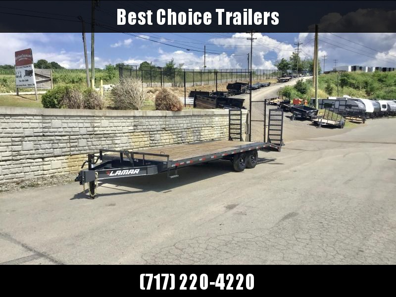 """2020 Lamar 102x24' Beavertail Deckover Trailer 14000# GVW * STAND UP RAMPS + SPRING ASSIST * TOOL TRAY * HD COUPLER * I-BEAM FRAME * 16"""" O.C. C/M * RUBRAIL/STAKE POCKETS/PIPE SPOOLS * CHANNEL SIDE RAIL * 4X8"""" TUBE BUMPER"""
