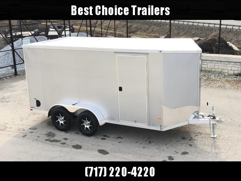 2021 Neo 7x14' NAVF Aluminum Enclosed Cargo Trailer * RAMP DOOR * SILVER * ALUMINUM WHEELS