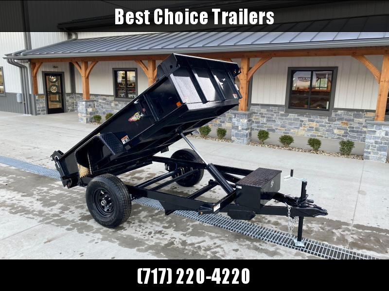 "2021 H&H 5x8' Single Axle Dump Trailer 5200# GVW * COMBO GATE * SPARE TIRE MOUNT * TARP PREP * D-RINGS * DIAMOND PLATE FENDERS * POWER UP/POWER DOWN * BULLET LED'S * 15"" RADIALS * CLEARANCE"